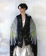 Shovava White Cockatoo organic cotton shawl