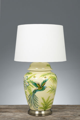 Caribbean ceramic lamp base