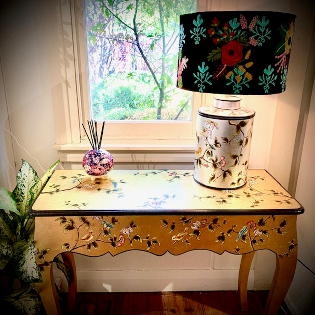 Silver Leaf Chinoiserie table lamp base