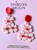 Shibuya Moon Blossoms (midi) earrings