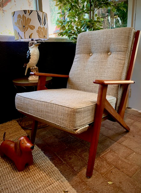 Beautifully restored mid century TV chair
