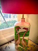Flamingos Porcelain lamp base