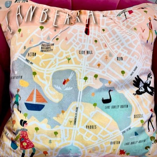 Canberra map cushion