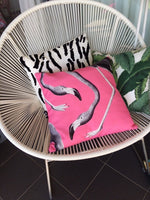 Flamingo pop cushion cover