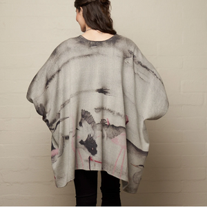 Lee Garrett Flamingo woollen cape