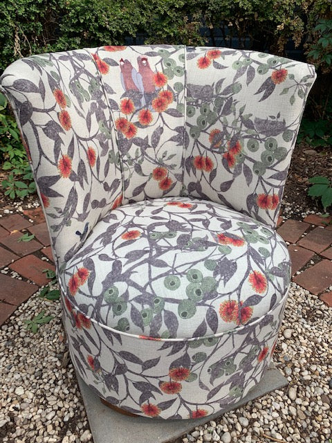 Galahs and Gumleaves bedroom chair