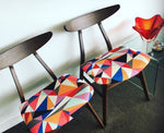 Scandi/Retro style feature chair - geo print