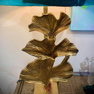 Gingko bronze table lamp base