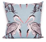 Herons in blue cushion cover