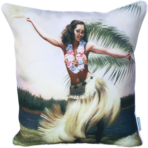 Hula Girl outdoor cushion cover