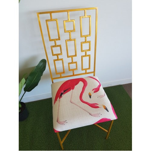 Gold Flamingo Chair