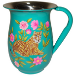 Tiger Enamel Jug in aqua