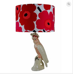 Marrimekko Red and Pink Unikko lampshade