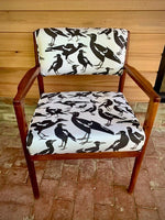 """Swoop"" refurbished timber mid century chair"