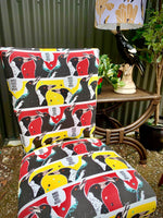 """Magpie Talk"" small mid century chair - two available"