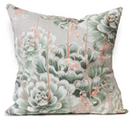 Succulent in green cushion cover