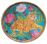 Tiger Tray in aqua
