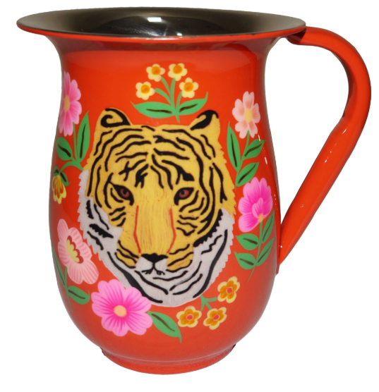 Tiger Enamel Jug in orange
