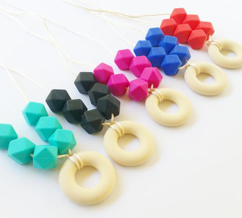Hexagons + Teething Ring
