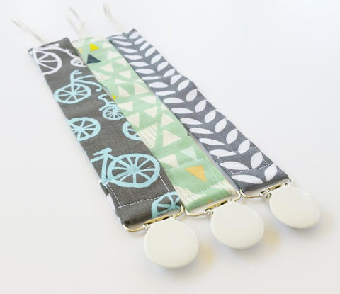 Modern Baby Pacifier Clips