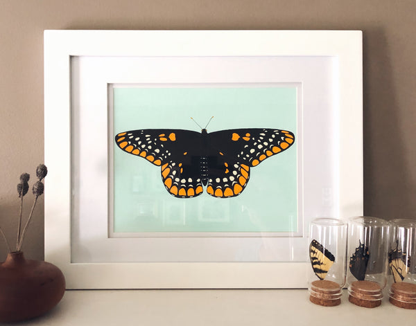 Baltimore Checkerspot-Framed Original Painting-large