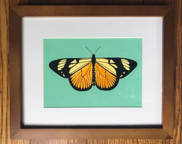 Actinote Anteas Butterfly-Framed Original Painting