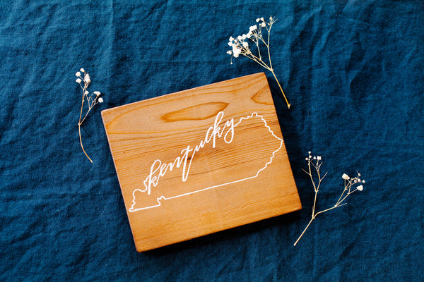 Kentucky // Hand Lettered Wood Sign