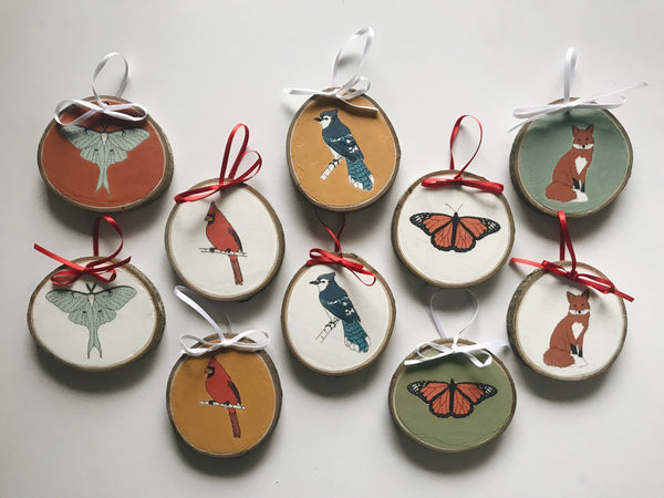Animal/Insect Illustration Christmas Ornament