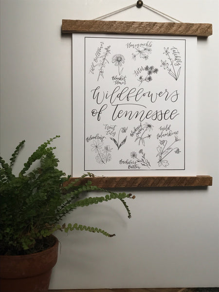 Print- Tennessee Wildflowers -8x10