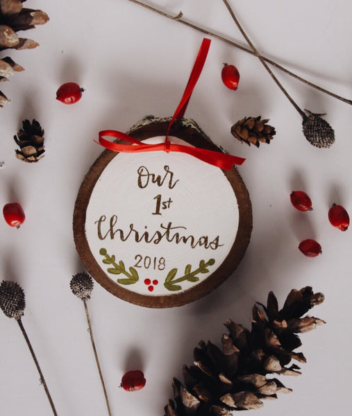 Our 1st Christmas // Hand Painted Ornament