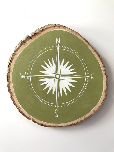 Hand Painted Compass