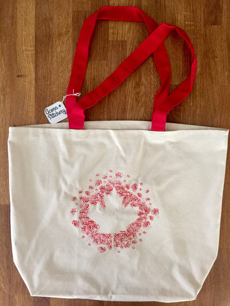 Oh Canada - Large Canvas Tote Bag