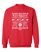 "Load image into Gallery viewer, Crewneck - The ""Not-So-Ugly"" Christmas Sweater - Unisex - Red/White"