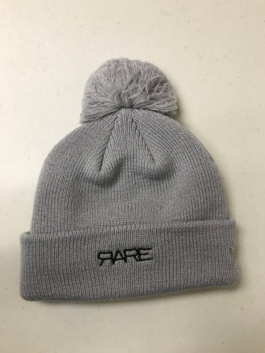 RARE Logo Pom Toque - Grey/Black - Unisex