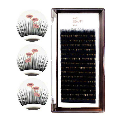 Pre-Layered Individual Volume Lash Extension Trays