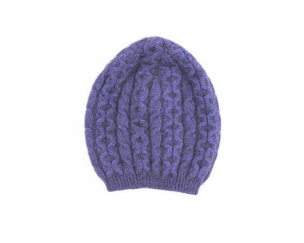Possum Merino Cable Knit Hat in Heather