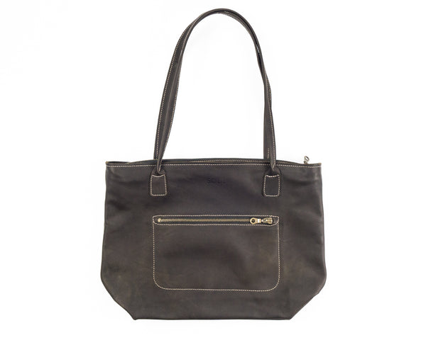 Zip Tote with external Pocket