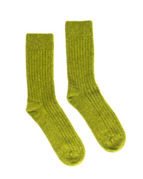 Olive Merino Possum Socks