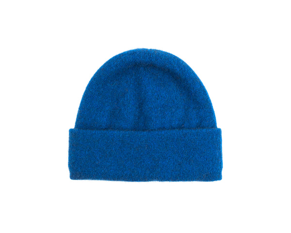Turn-Up Beanie in Blue