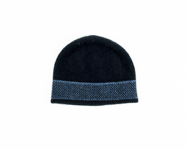 Morse Hat in Black/Blue