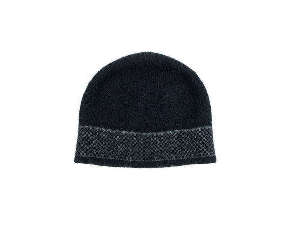 Morse Hat in Black/Grey