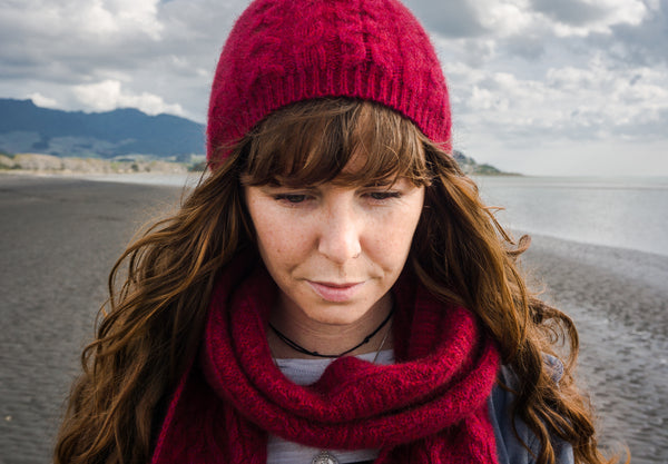 Merino Possum Cable Knit Hat
