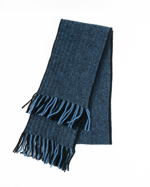Morse Scarf in Black/Blue