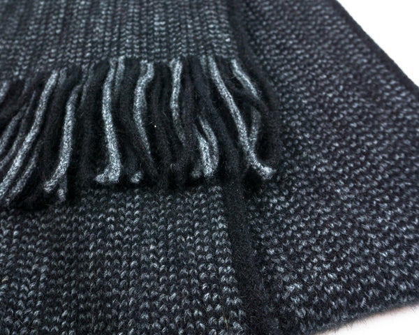 Morse Scarf in Black/Grey