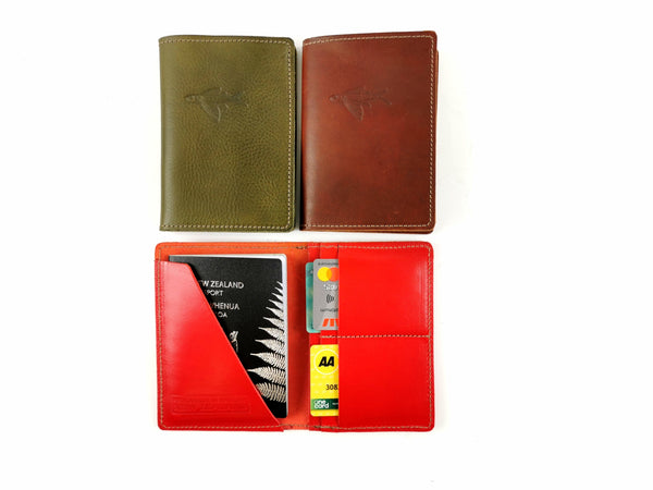 Leather passport cover- -NZ Made- -Soul