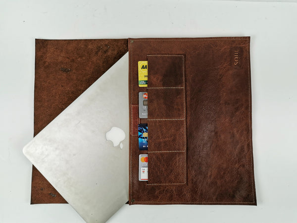 Leather|Laptop|Folder|NZ made|Soul