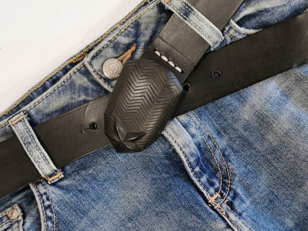 leather belt-hand made cast buckle-NZ made