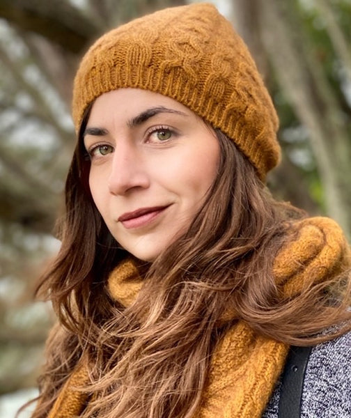 Merino Possum Cable Knit Scarf