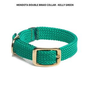"Braided Collar 1"" (21"") Kelly Green"
