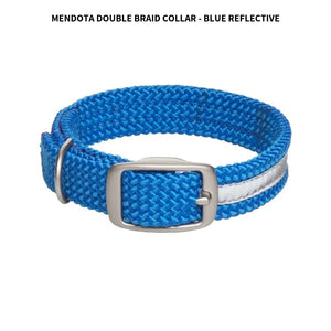 "Braided Collar 1"" (18"") Blue Reflective"